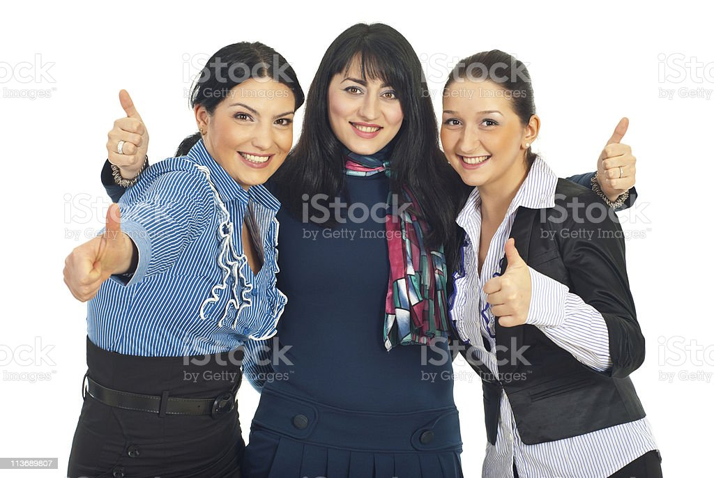 United business women gives thumbs royalty-free stock photo