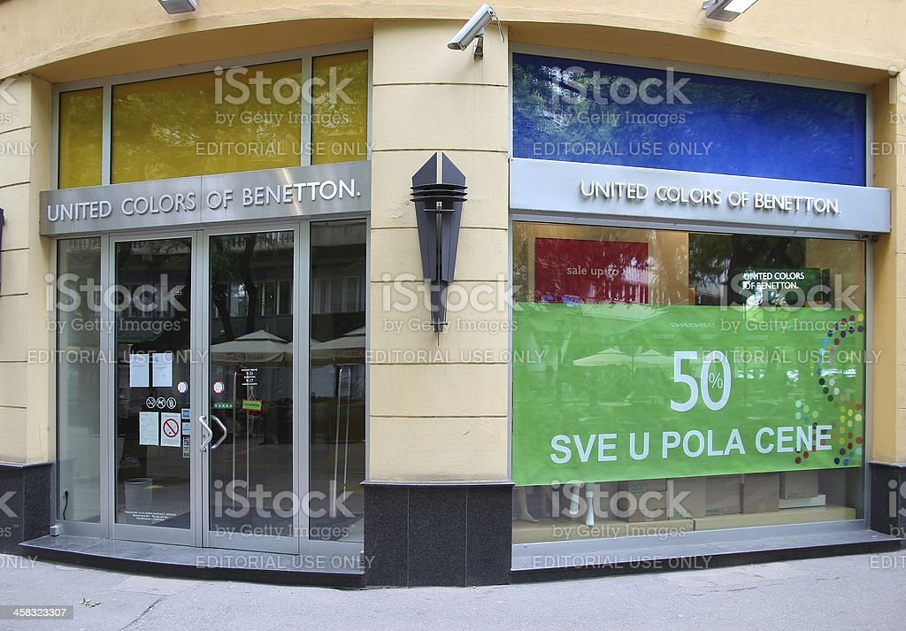 United Colors of Benetton stock photo
