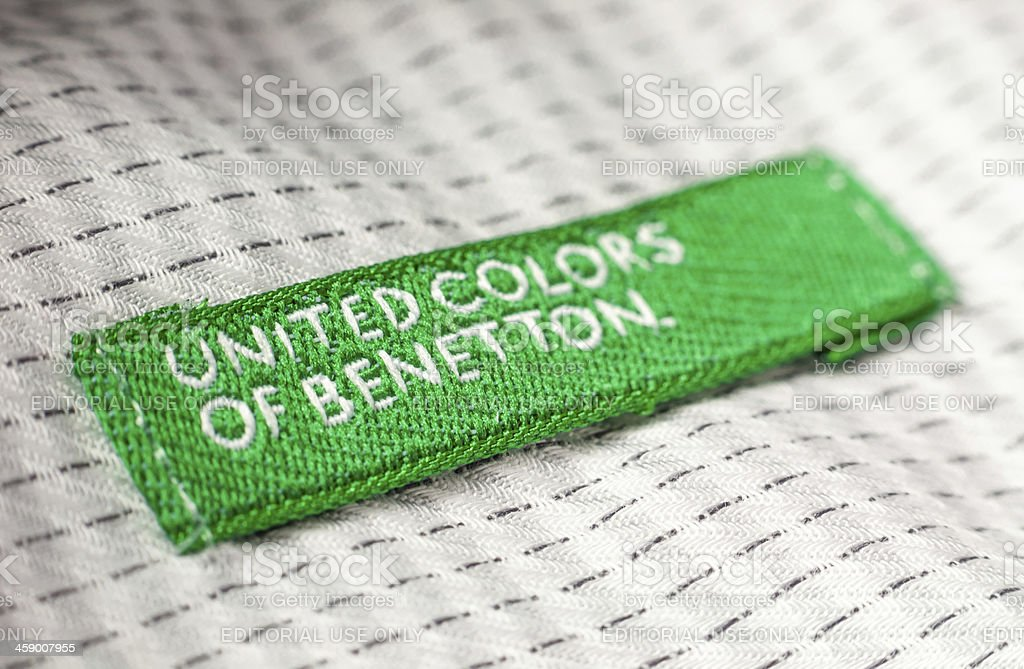 United Colors of Benetton shirt label stock photo