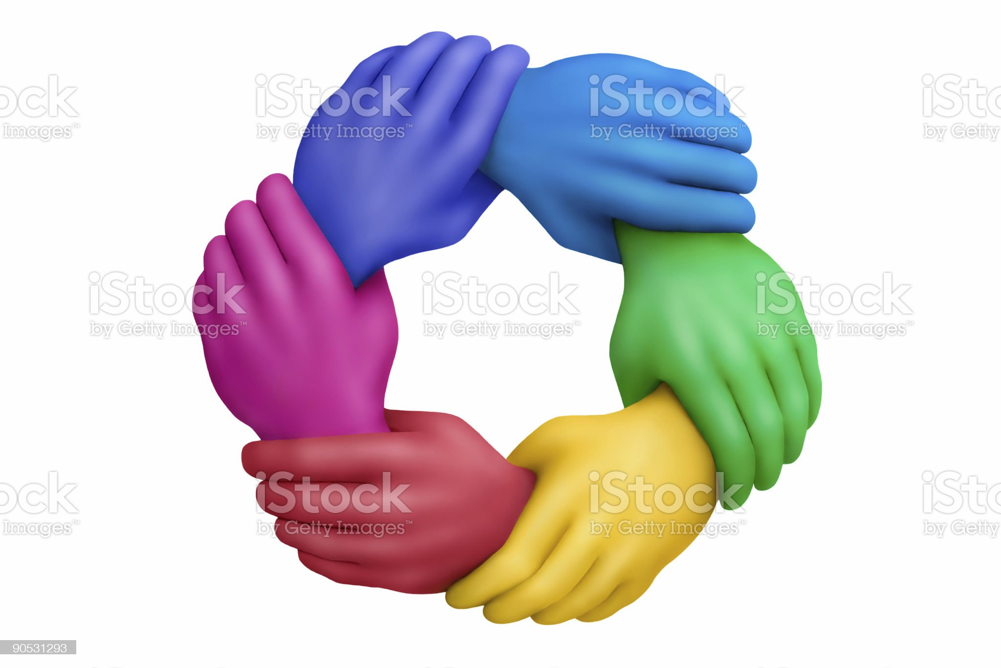 United colors royalty-free stock photo