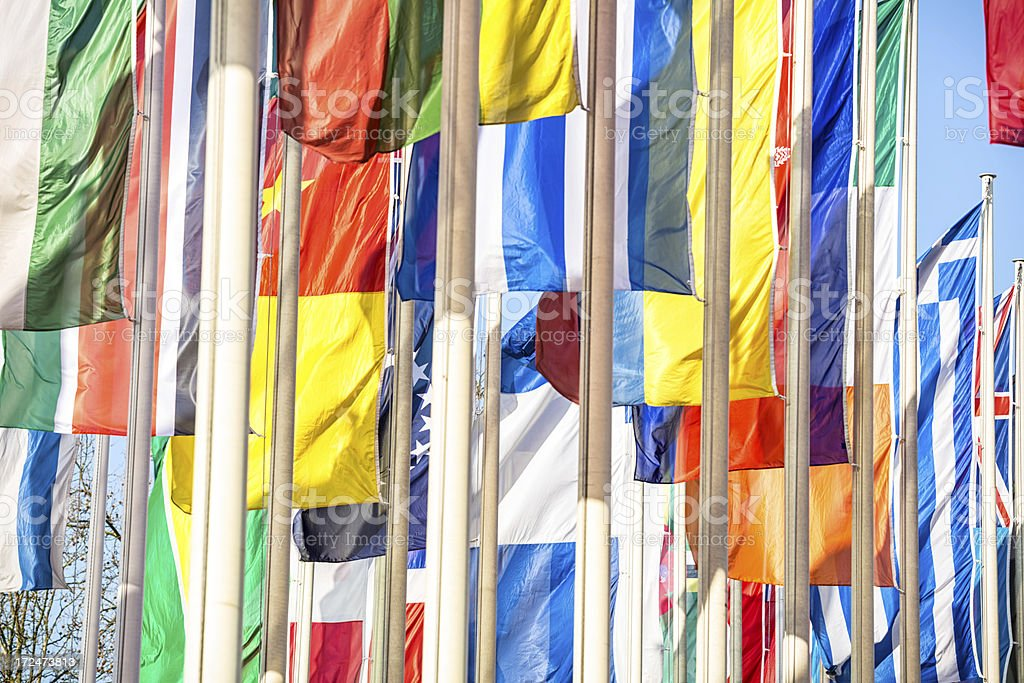 United flags royalty-free stock photo