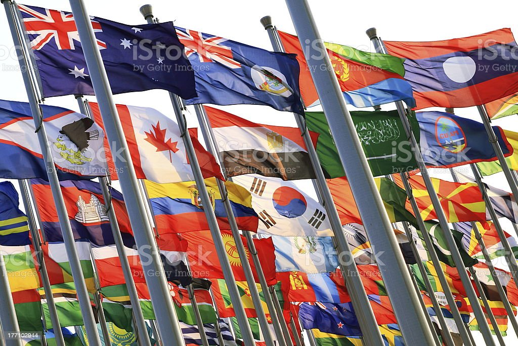 United Flags stock photo