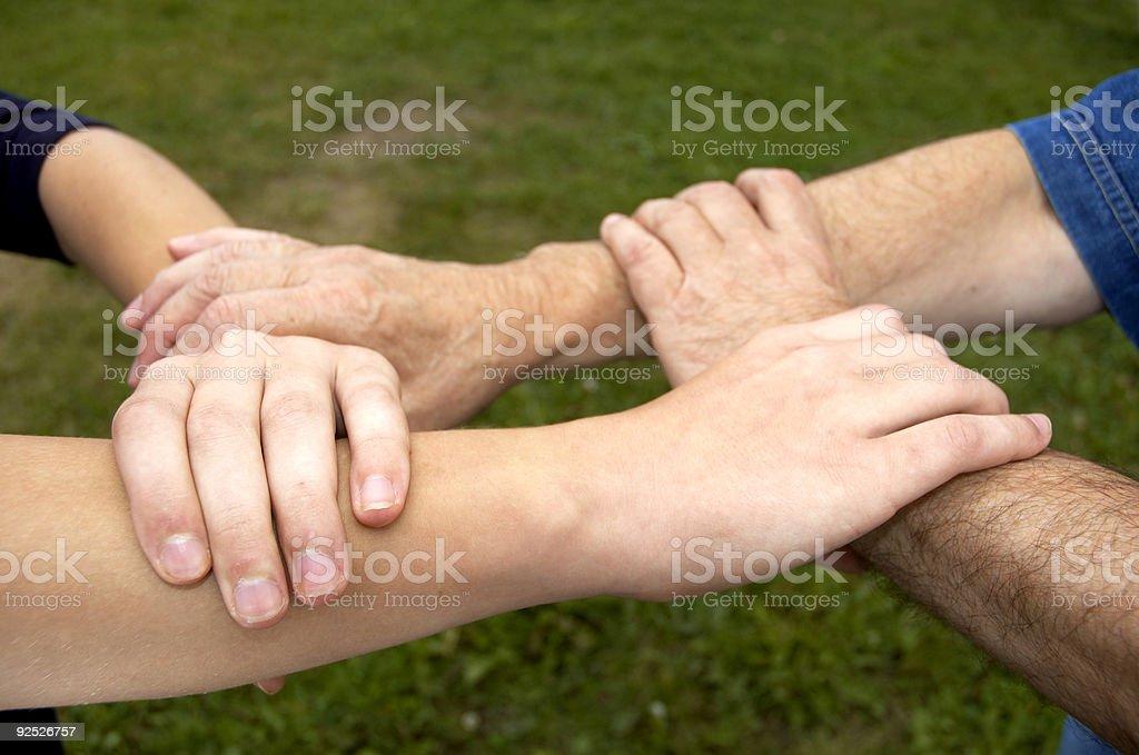 united hands stock photo