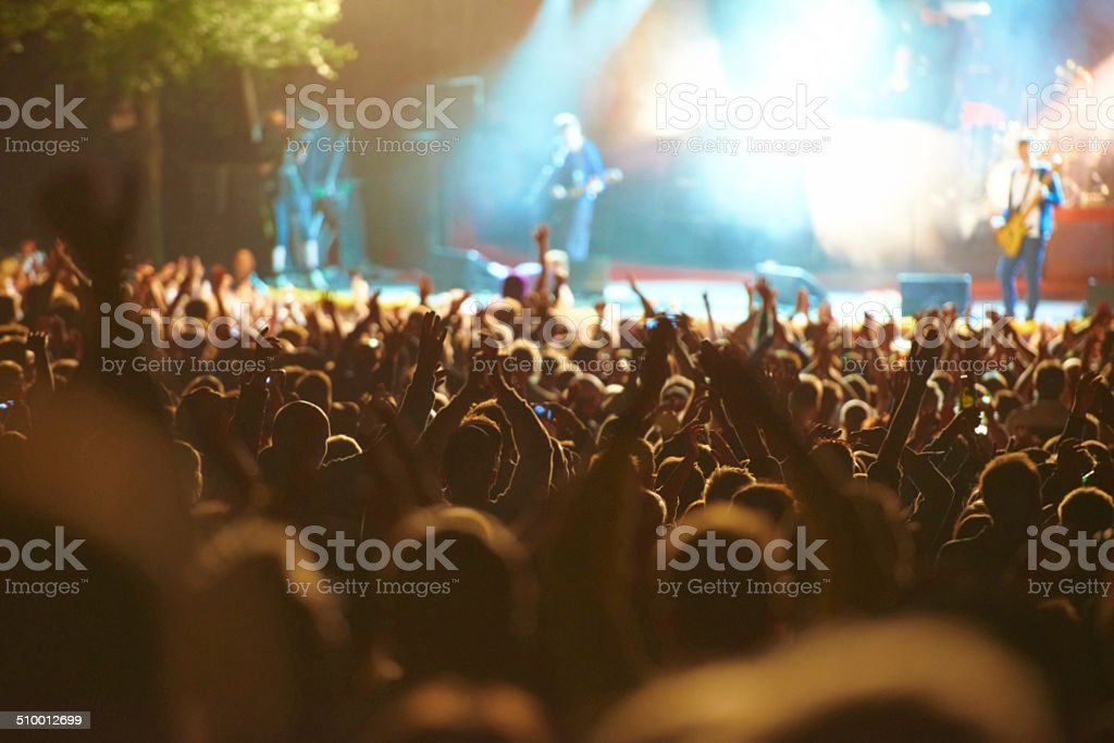 United in their love for music stock photo