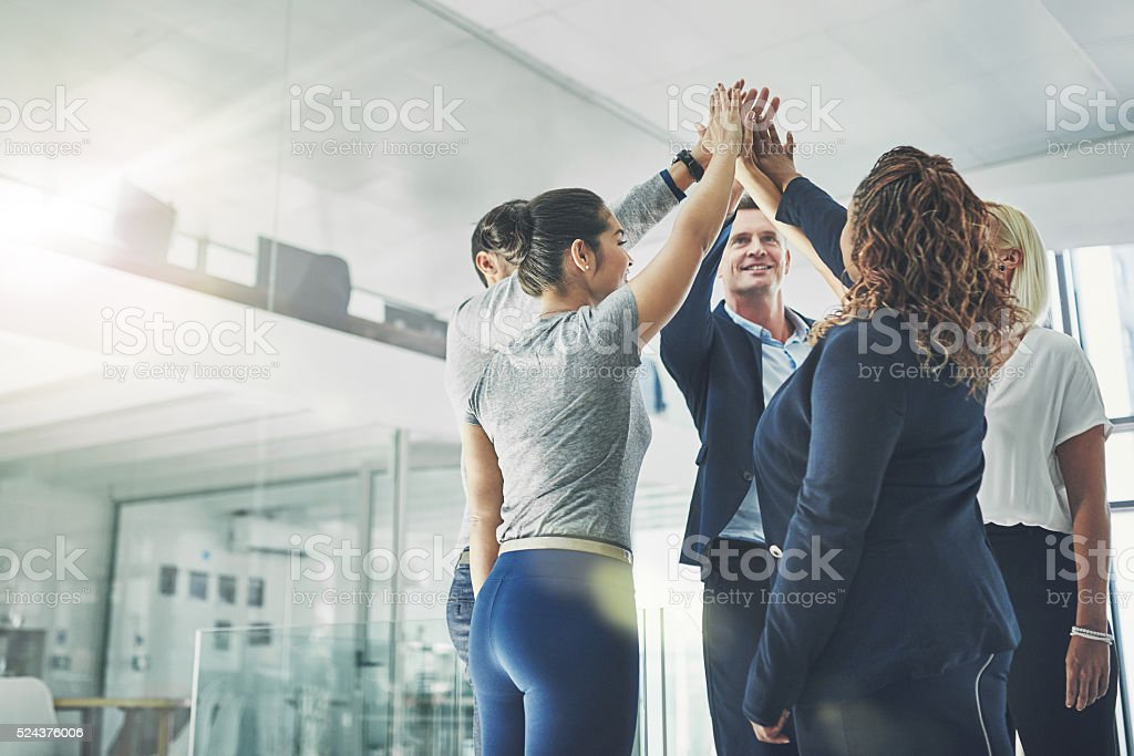 United in their quest for success stock photo
