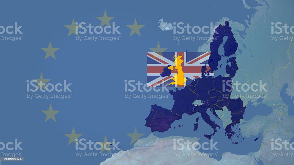 United Kingdom could exit (brexit)  European union stock photo