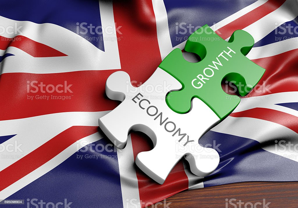 United Kingdom economy and financial market growth concept, 3D rendering stock photo