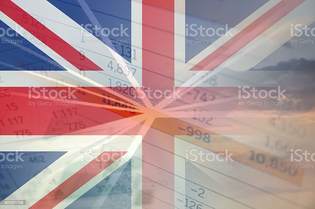 United Kingdom economy concept stock photo