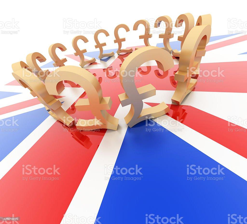 United Kingdom economy stock photo