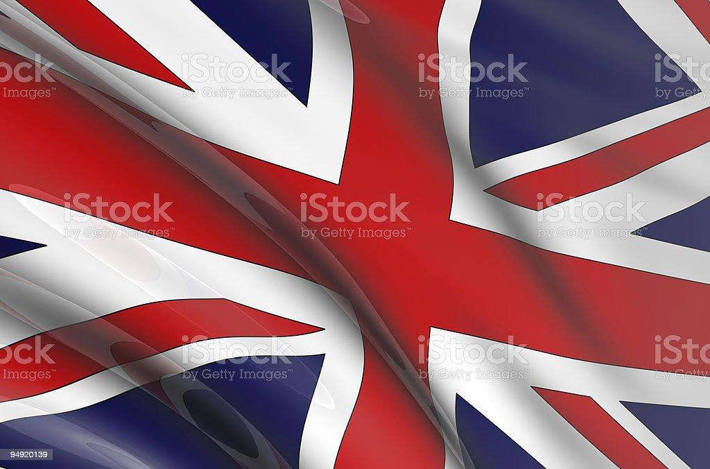 United Kingdom flag 3D royalty-free stock photo