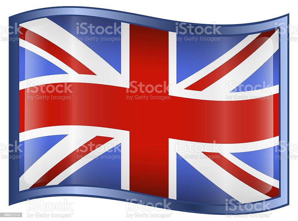 United Kingdom Flag Icon, isolated on white background royalty-free stock photo
