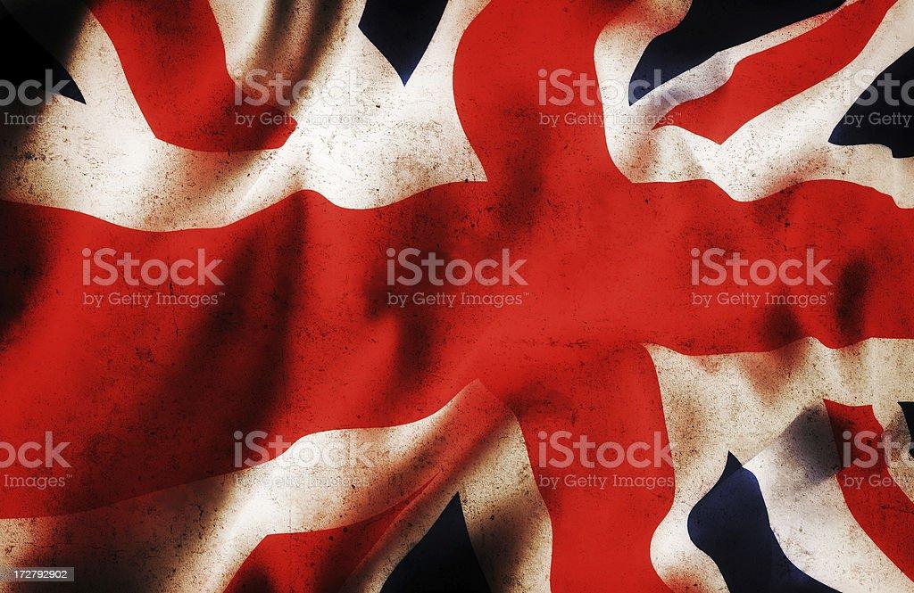 United Kingdom Flag (grunge) royalty-free stock photo