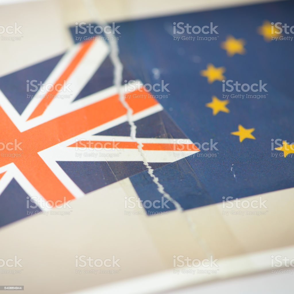 United Kingdom in Europe Brexit Concept Image stock photo