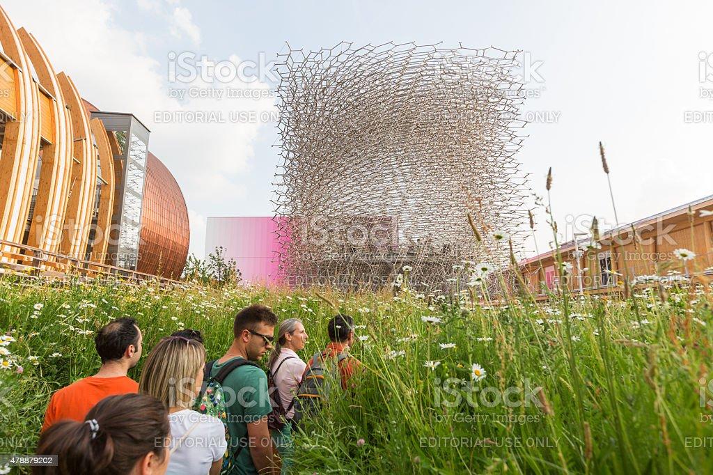 United Kingdom pavilion at Expo 2015 stock photo