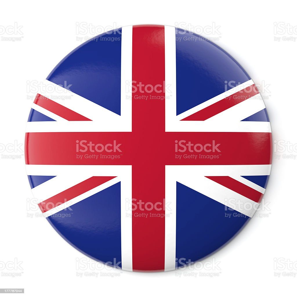 United Kingdom Pin-back stock photo