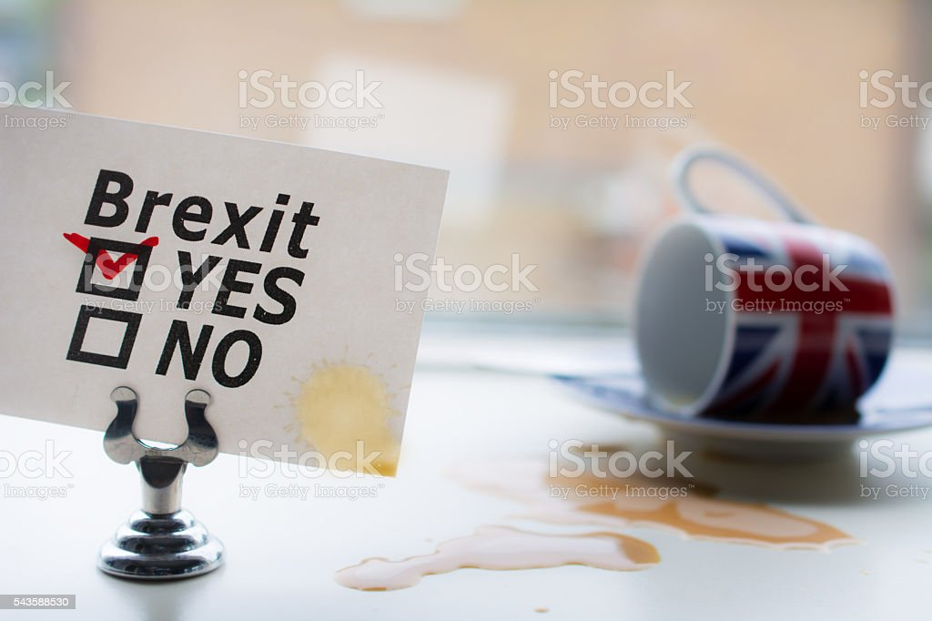United Kingdom said yes to brexit, with consequences stock photo
