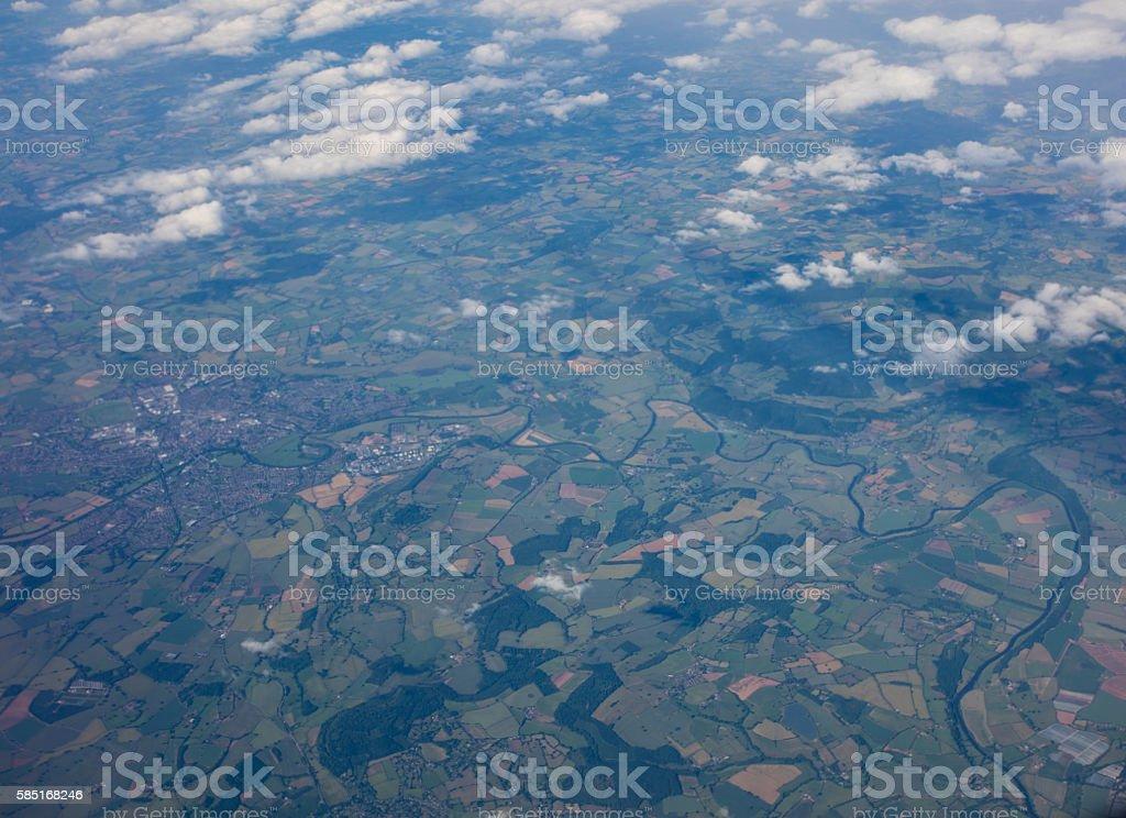 United Kingom Aerial View stock photo