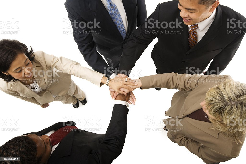 United Multicultural Business Team royalty-free stock photo