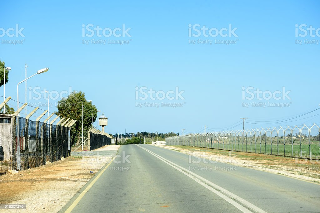 United Nation Buffer Zone between Republic of Cyprus and Norther stock photo