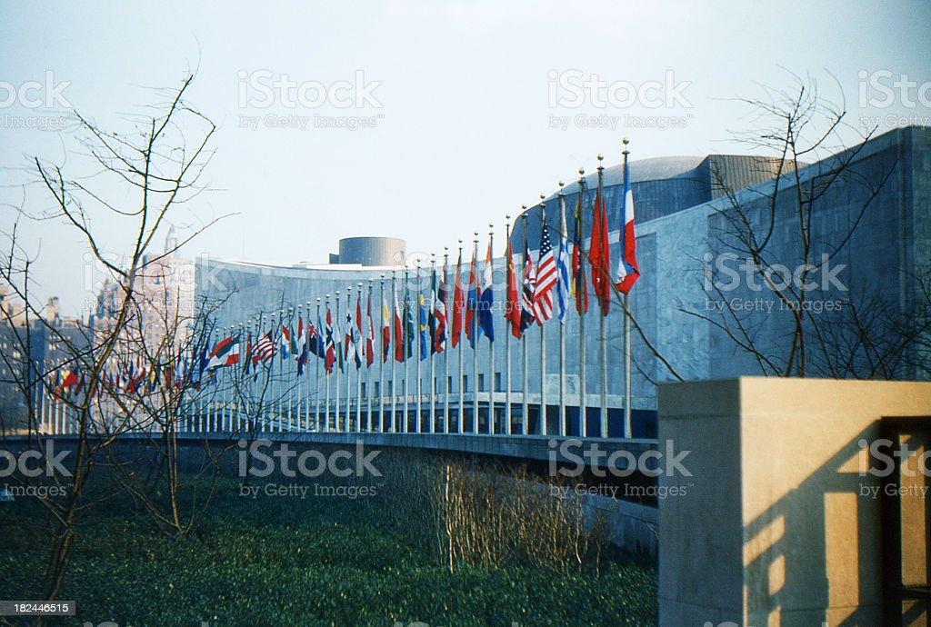 United Nations 1955, retro stock photo