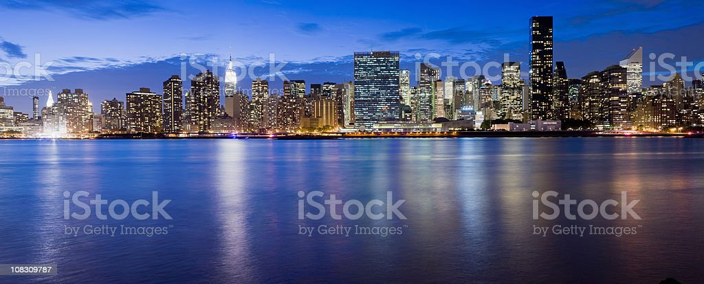 United Nations Building and Midtown Manhattan New York USA royalty-free stock photo