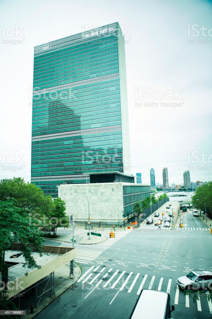 United Nations Building royalty-free stock photo