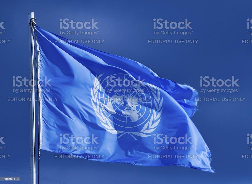 United Nations flag. royalty-free stock photo