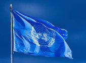 United Nations flag.