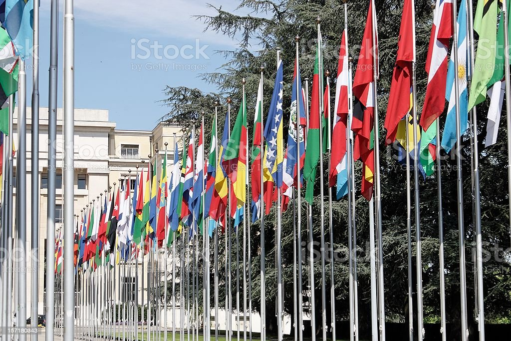 United Nations Geneva royalty-free stock photo