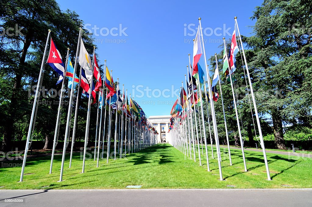 United Nations, Geneva stock photo
