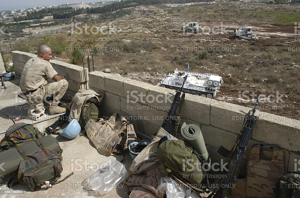United Nations Soldier stock photo