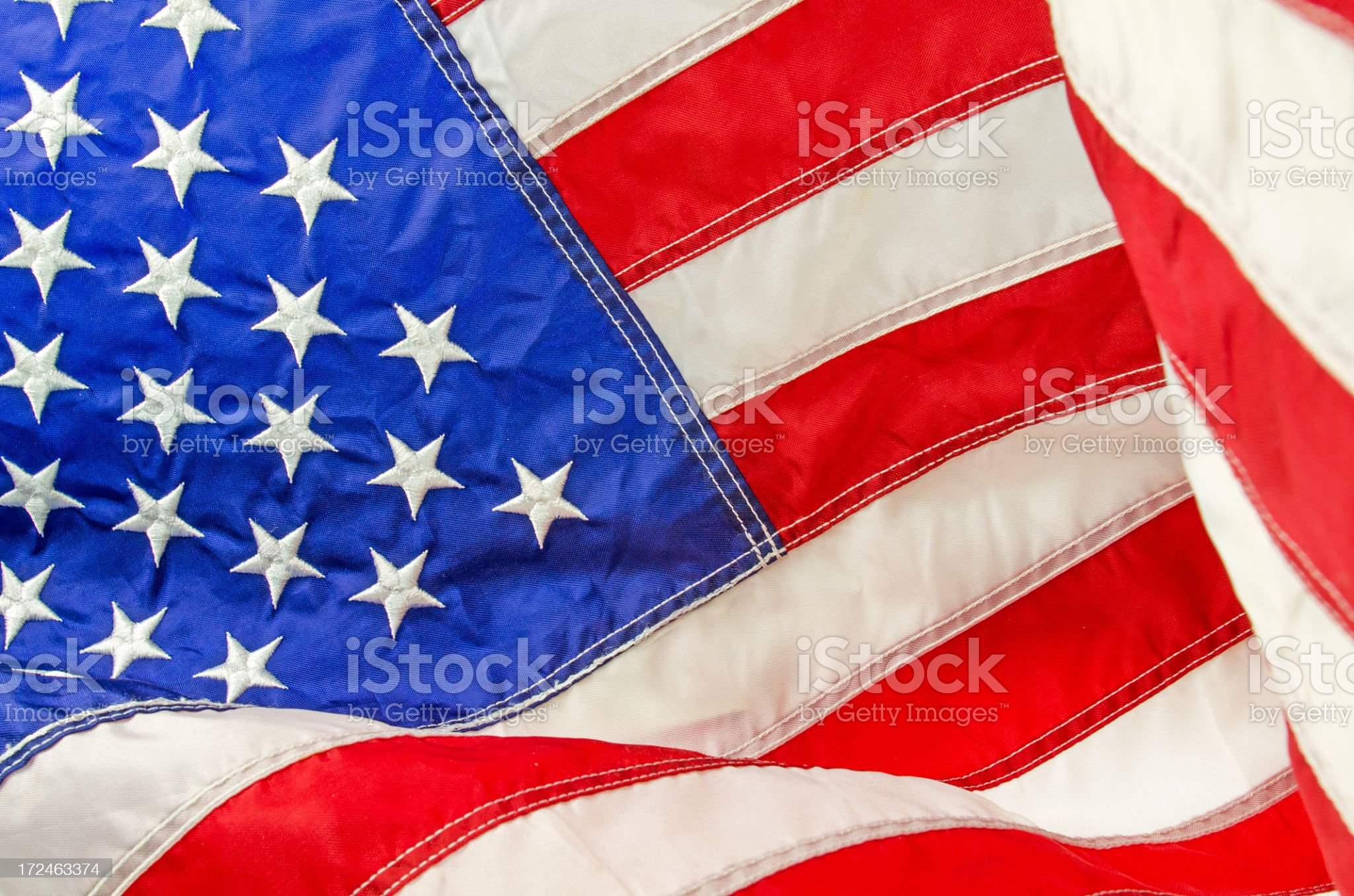 United Staes Flag Close-up royalty-free stock photo