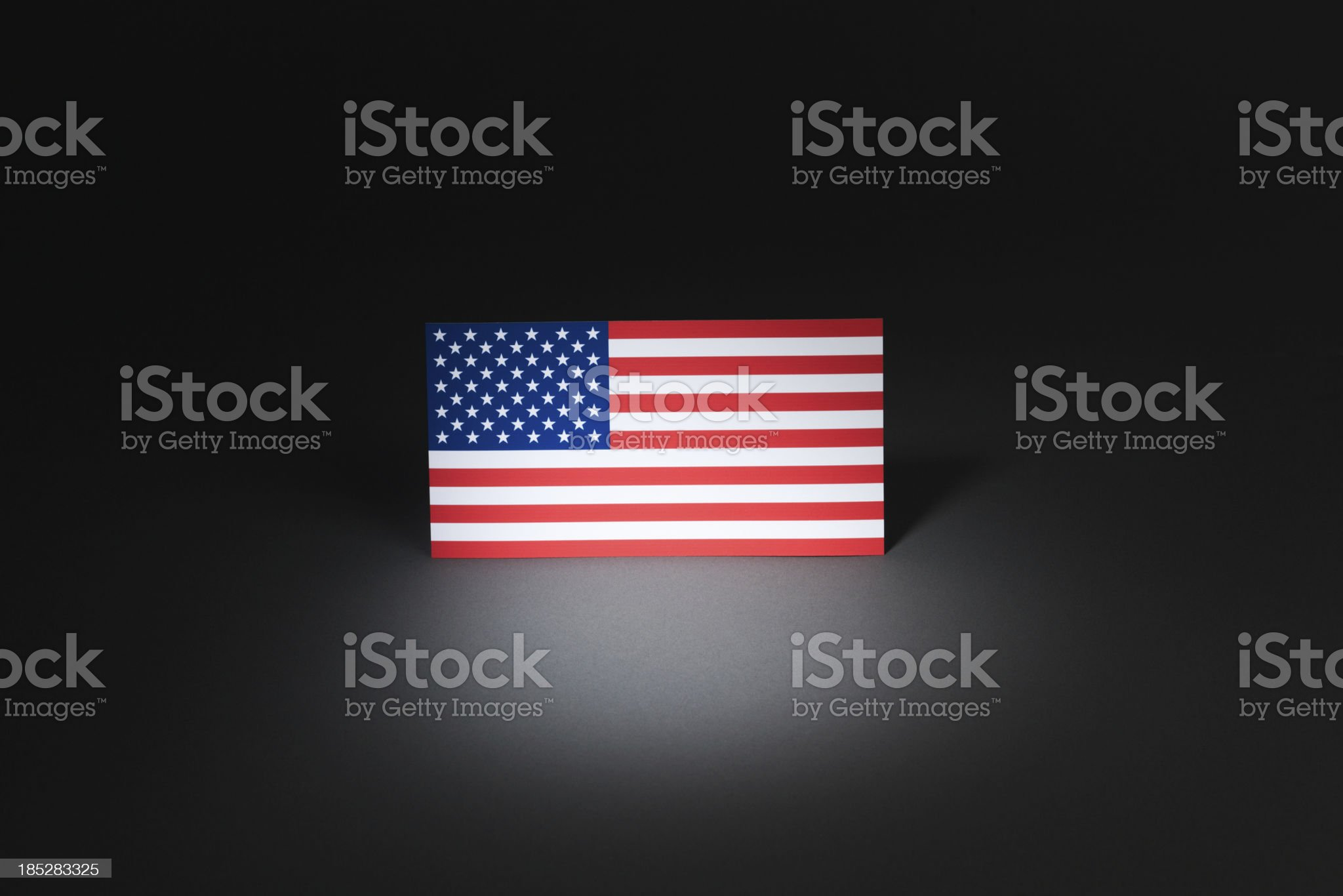 United State at Center Stage Under Spotlight Hz royalty-free stock photo