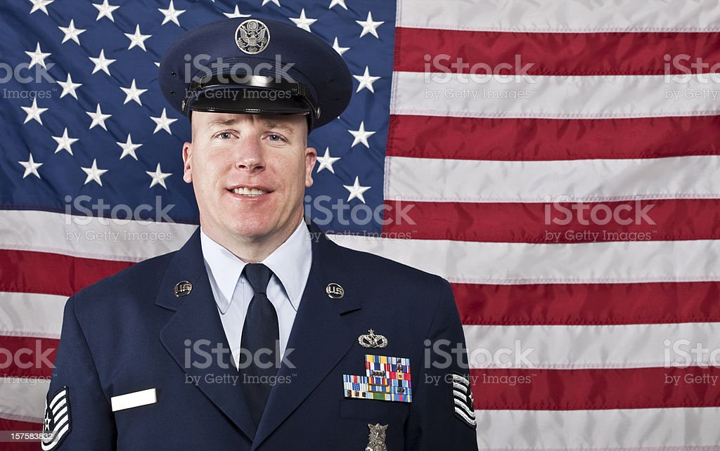 United States Air Force military man stock photo
