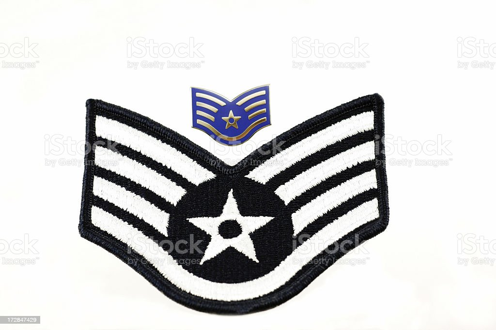 United States Air Force Staff Sergeant Insignia royalty-free stock photo