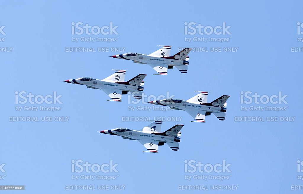 United States Air Force Thunderbirds In Formation royalty-free stock photo