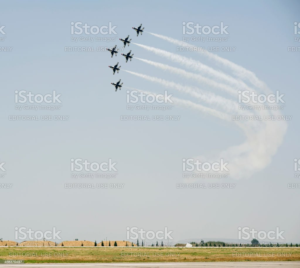 United States Air Force Thunderbirds royalty-free stock photo