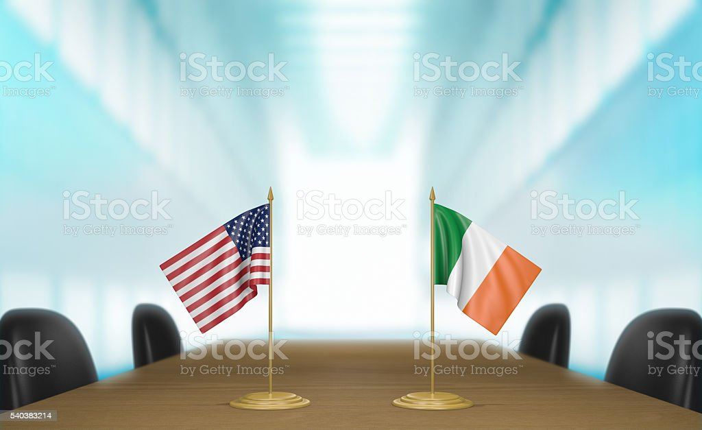 United States and Ireland relations and trade deal talks stock photo