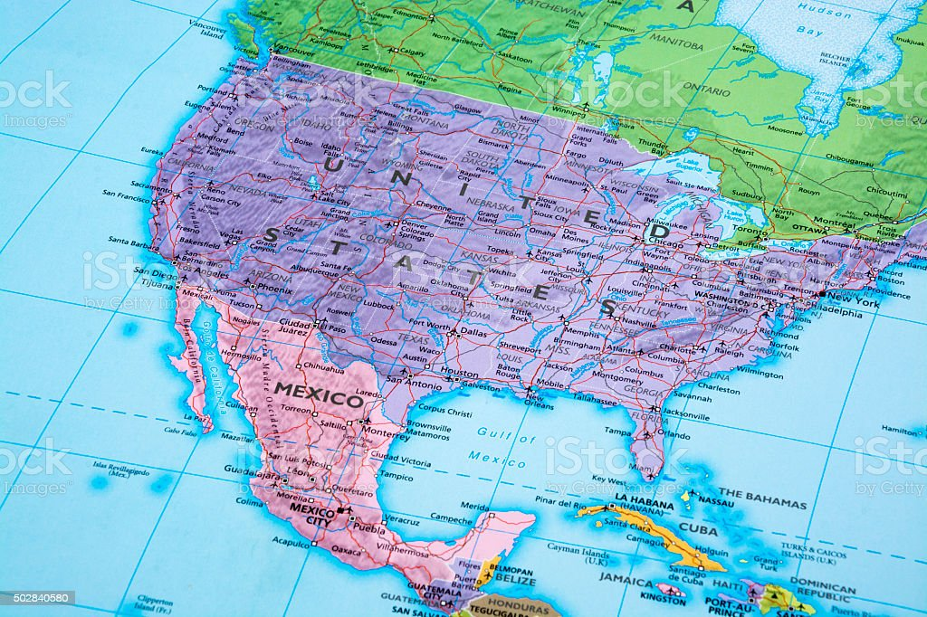 United States and Mexico stock photo