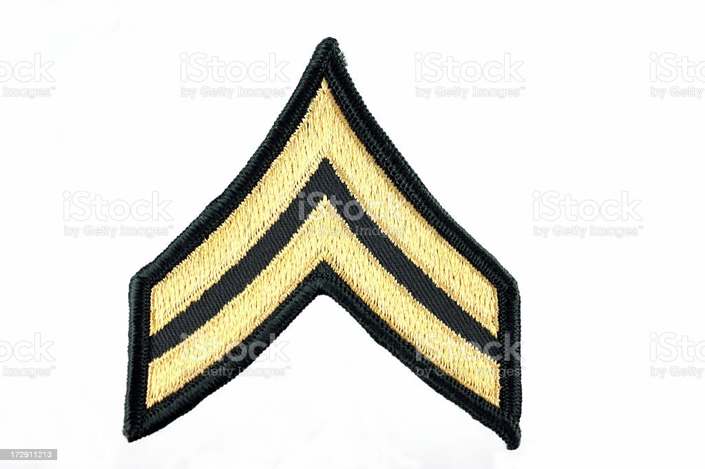 United States Army Corporal Insignia royalty-free stock photo