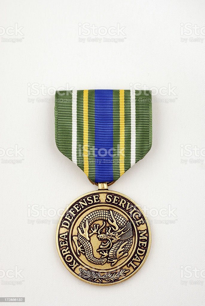 United States Army Korea Defense Service Medal stock photo