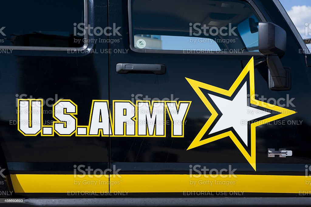 United States Army Official Car Humvee Three stock photo