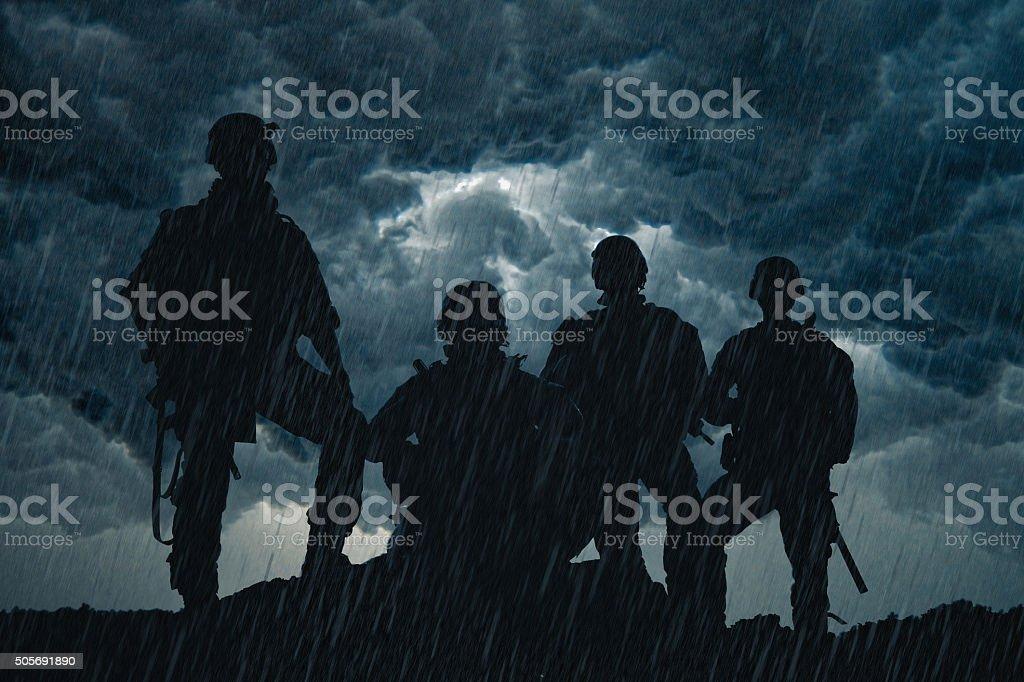 United States Army rangers stock photo