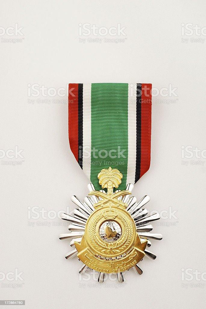 United States Army Saudi Arabia Liberation of Kuwait Medal stock photo