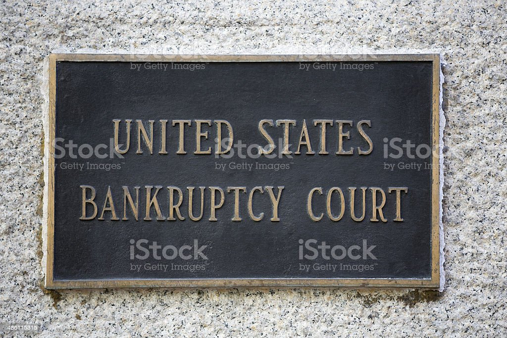 United States Bankruptcy Court New York City stock photo