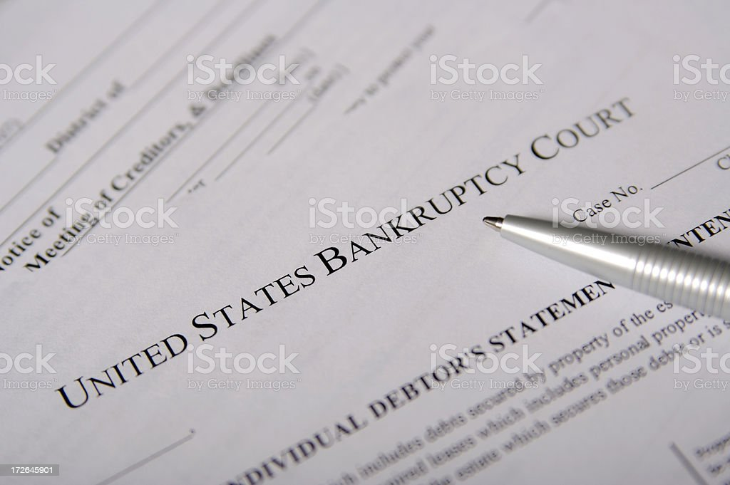 United States Bankruptcy Court royalty-free stock photo