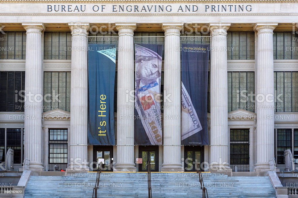 United States Bureau of Engraving and Printing, Washington D.C stock photo