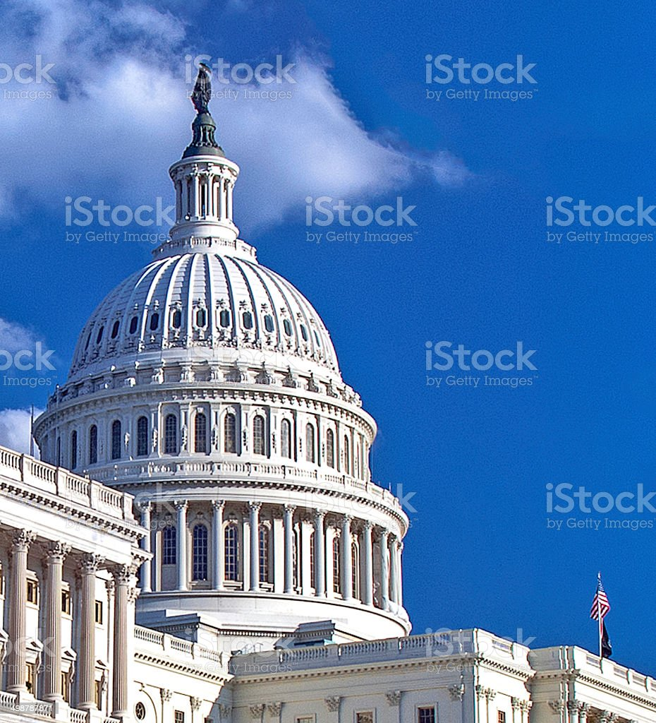 United States Capital Dome Close Up stock photo