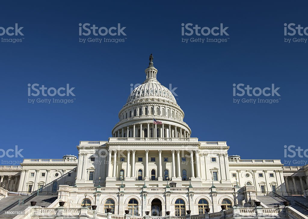 United States Capitol Building in Washington DC royalty-free stock photo
