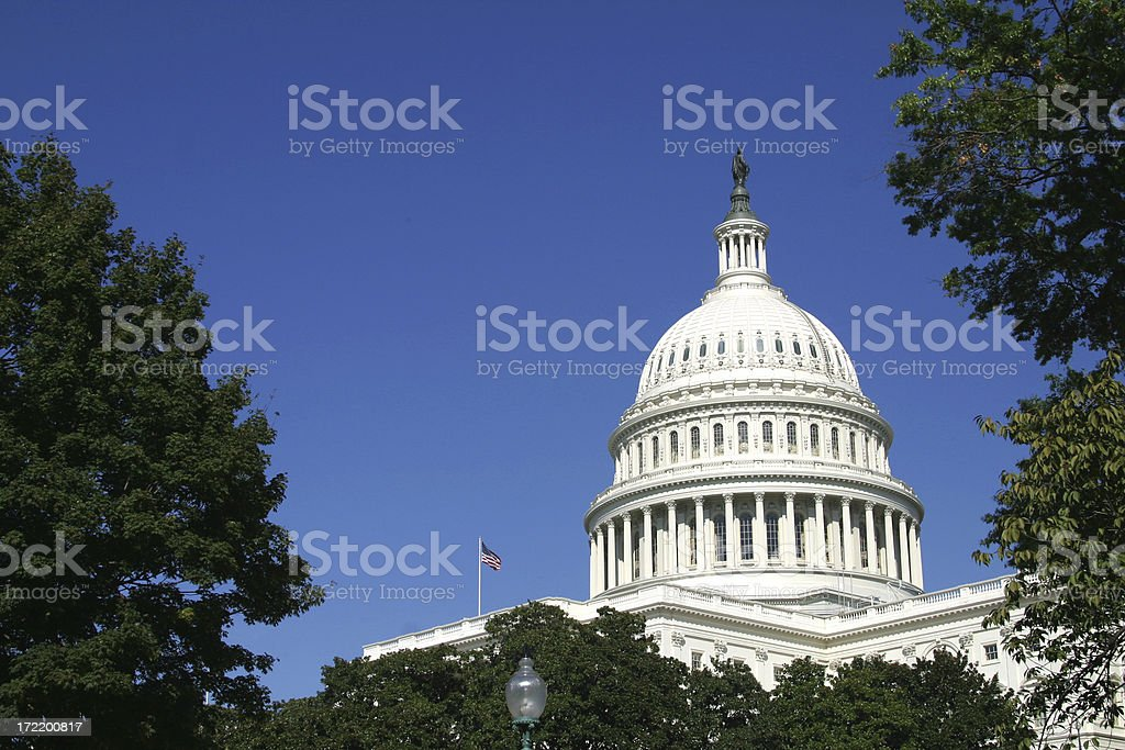 United States Capitol Building side view royalty-free stock photo